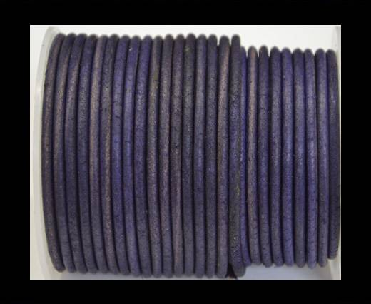 Round Leather Cord 4mm- Vintage Purple