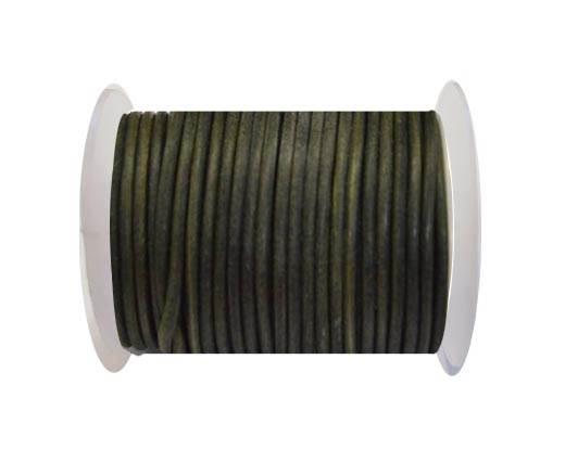 Round Leather Cord 4mm-Vintage Tourmaline