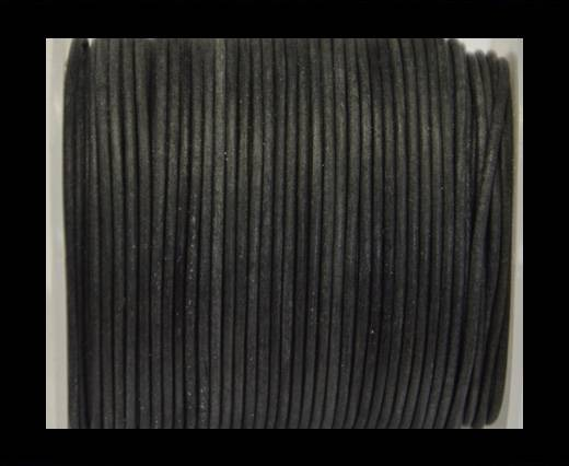 Buy Round Leather Cord -Vintage Black- 2mm at wholesale prices