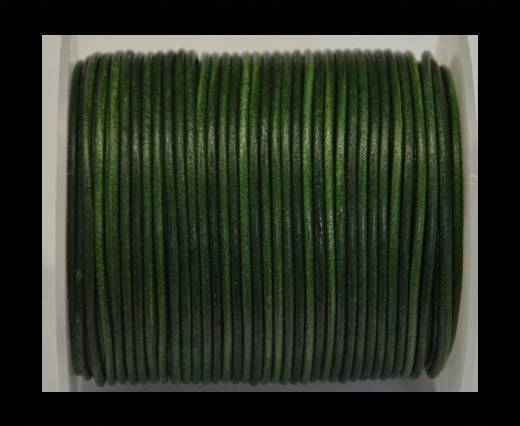 Buy Round Leather Cord - Vintage- Fern green- 2mm at wholesale prices