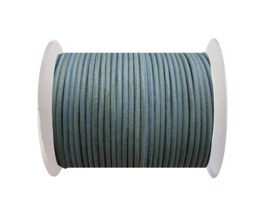 Round leather cord-2mm-Pastel Blue