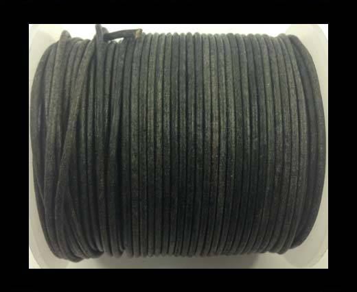 Buy Round Leather Cord-1,5mm-vintage black at wholesale prices