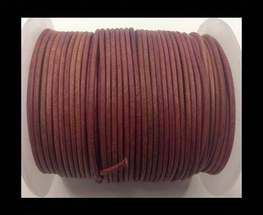 Buy Round Leather Cord-1,5mm-vintage rose at wholesale prices