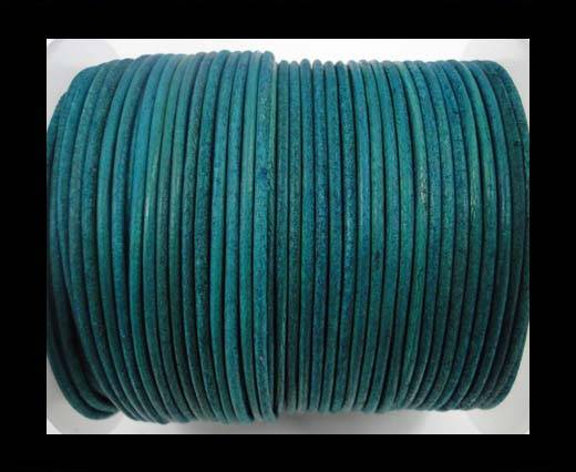 Buy Round Leather Cord-1,5mm-vintage turquoise at wholesale prices