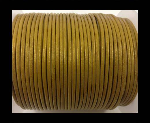 Buy Round leather cord-2mm-metallic gold at wholesale prices