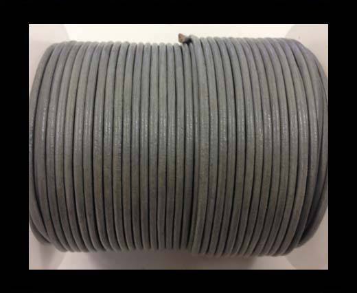 Buy Round leather cord-2mm-Metallic Pastel Grey at wholesale prices