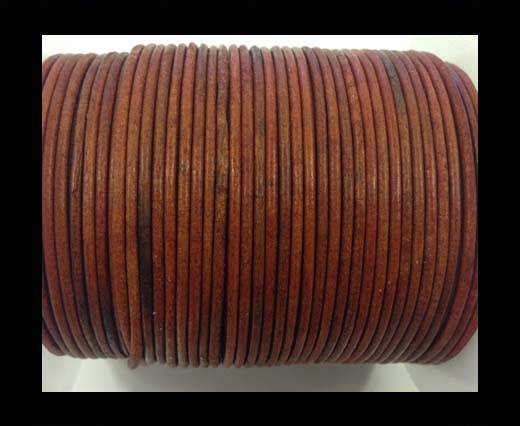 Buy Round leather cord-2mm-vintage orange at wholesale prices