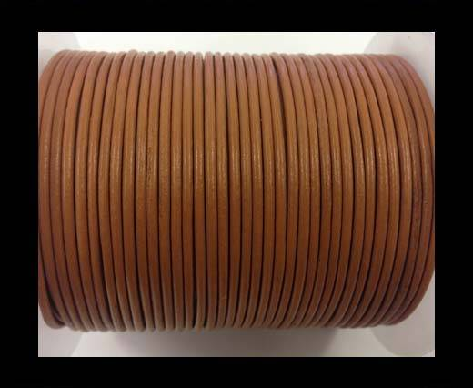 Round leather cord-2mm-burnt sienna