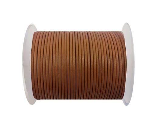 Round leather cord-2mm-burnt sienna
