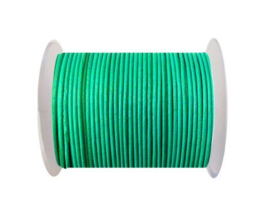 Round leather cord-2mm-mint
