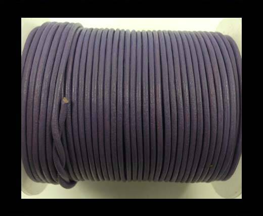 Round leather cord-2mm-pastel purple