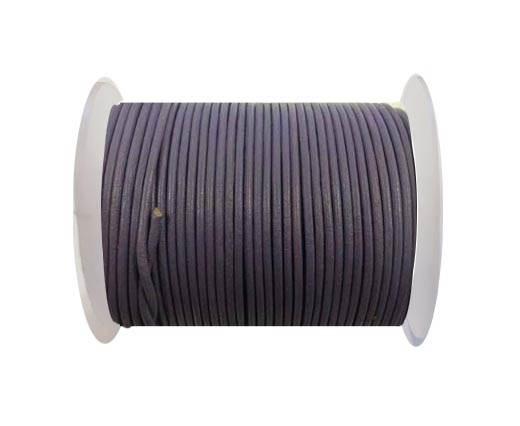Round leather cord-2mm-pastel purple