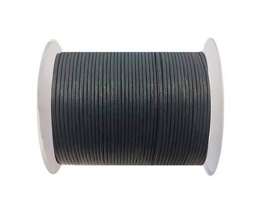 Round leather cord-2mm-se-r-25-bluish green