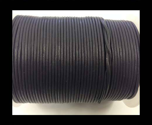Round leather cord-2mm-SE-R-26-Purpleish