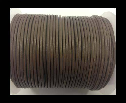 Round leather cord-2mm-taupe