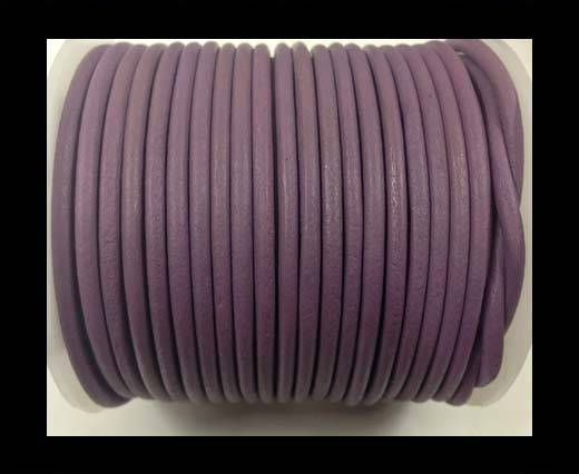 Round leather cord-3mm-pastel purple