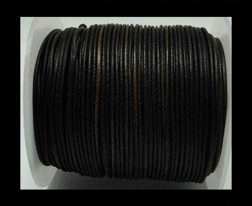 Buy Round Leather Cord -1mm - Vintage Brown at wholesale prices