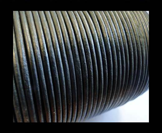Round Leather Cord -1mm- SE R Metallic Grey