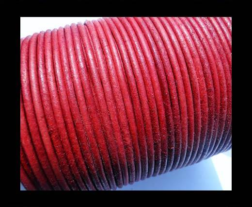 Buy Round Leather Cord -1mm - SE R Vintage Red at wholesale prices