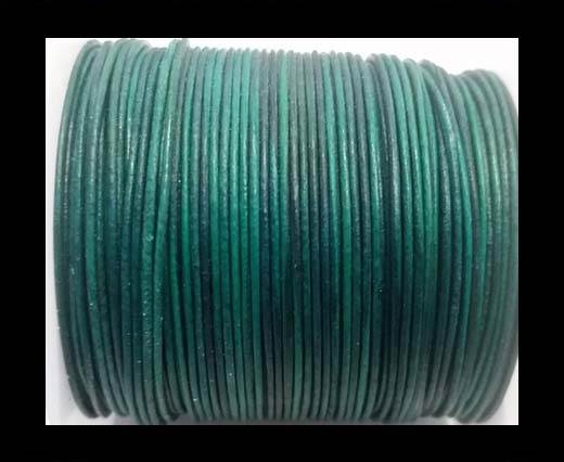 Buy Round Leather Cord -1mm- SE Vintage Turquoise at wholesale prices