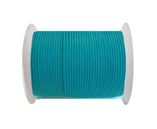 Round Leather Cord 4mm- SE R 23 Sea Blue