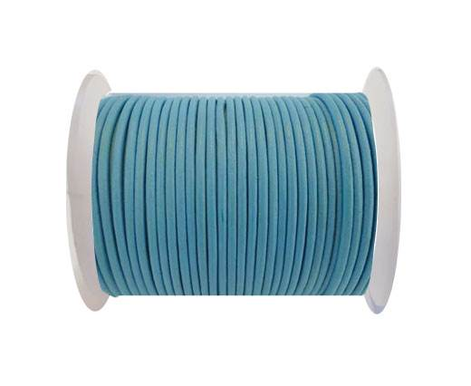 Round Leather Cord 4mm- SE R Light Blue