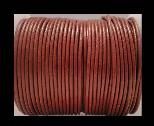 Round Leather Cord 4mm- SE_Bordeaux