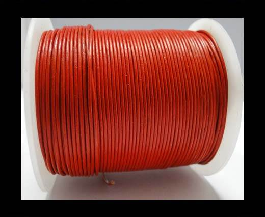 Round Leather Cord 4mm- SE-R-05 Red