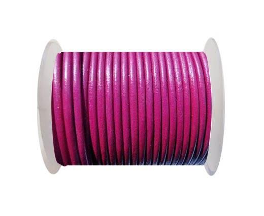 Round Leather Cord -5mm - SE R Fuchsia