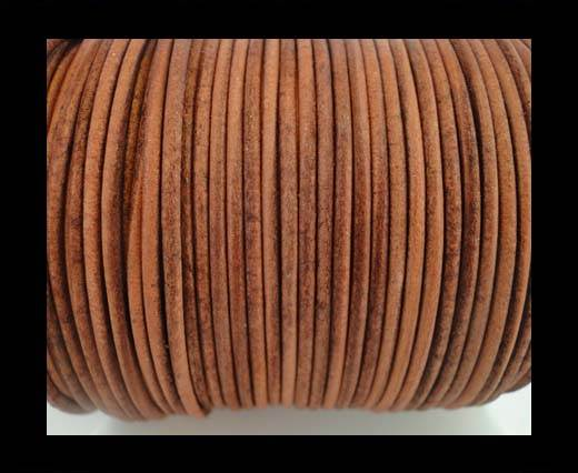 Buy Round Leather Cord -5mm - SE R Vintage Cognac at wholesale prices