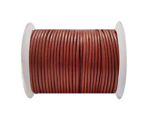 Round Leather Cord -5mm - SE_Bordeaux
