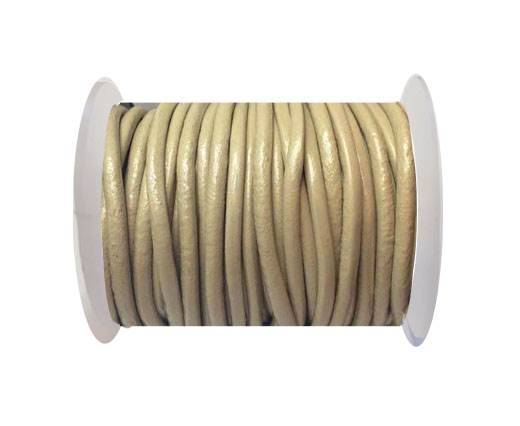 Round Leather Cord 4mm-Beige