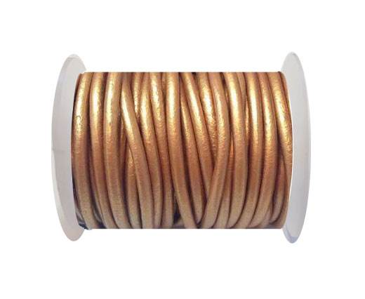 Round Leather Cord 4mm-Metallic Bronze