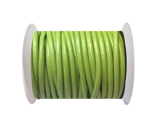 Round Leather Cord 4mm-Peridot