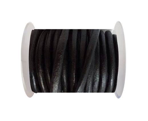 Round Leather Cord 4mm-SE.Black