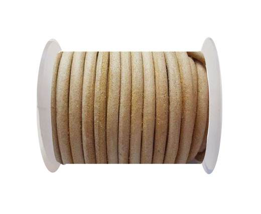 Round Leather Cord 4mm- Natural