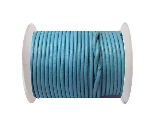 Round Leather Cord 4mm-SE.Light Blue