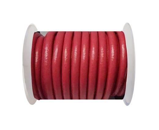 Round Leather Cord -5mm - Dark Pink