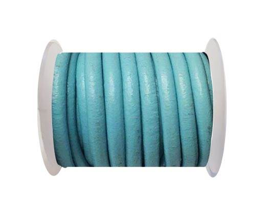 Round Leather Cord -5mm - Turquoise