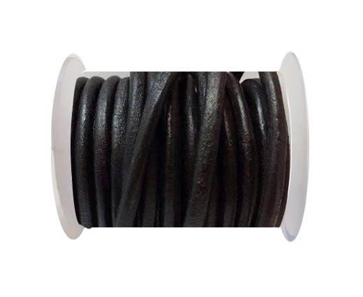 Round Leather Cord -5mm - SE.Black