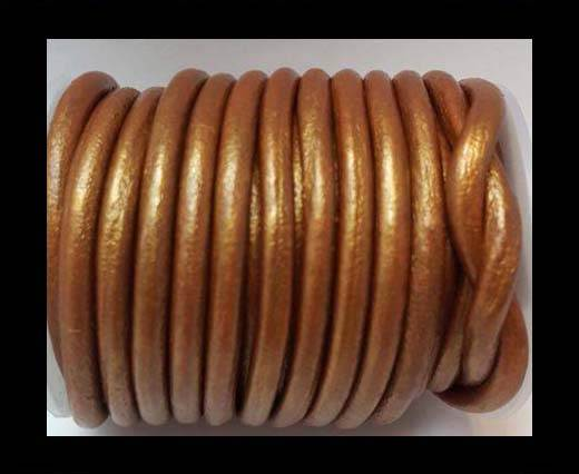 Round Leather Cord -5mm - M.Copper