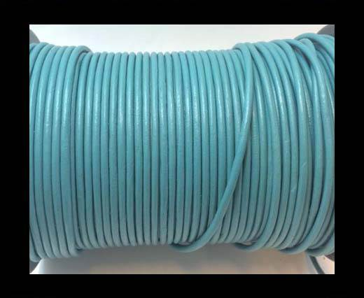 Buy Round Leather cords  2,5mm -Light Blue at wholesale prices
