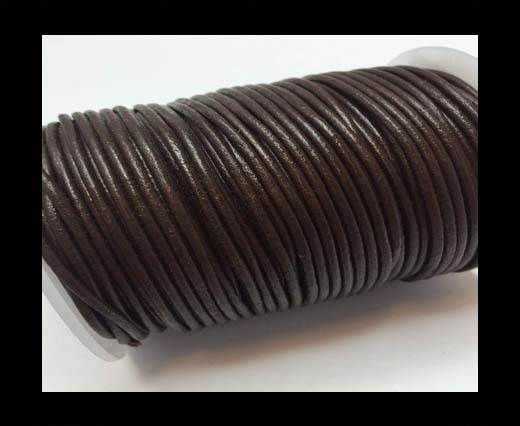 Round Leather Cord SE/R/04-Chocolate - 1,5mm