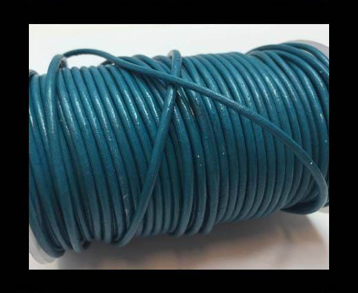 Round Leather Cord SE/R/Turquoise - 1,5mm
