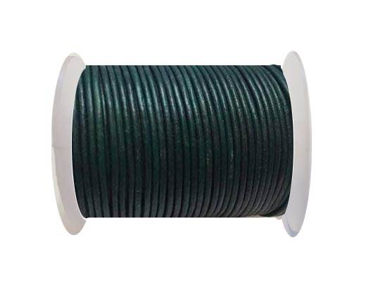 Round Leather Cord SE/R/21-Forest Green-1,5mm