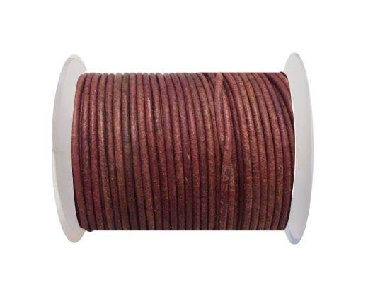 Round Leather Cord SE/R/08-Antique Rose - 2mm