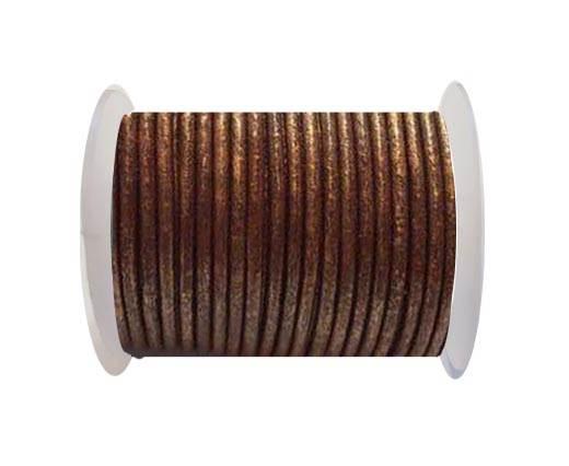 Round Leather Cord SE/R/Copper - 2mm