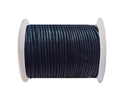 Round Leather Cord SE/R/Dark Blue - 2mm