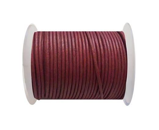 Round Leather Cord SE/R/Dark Pink-2mm