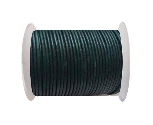 Round Leather Cord SE/R/21-Forest Green-2mm